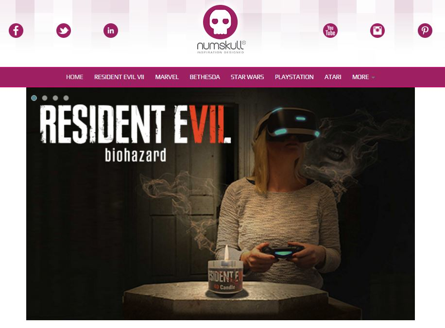 バイオハザード7 「Resident Evil 7 official 4D Candle」