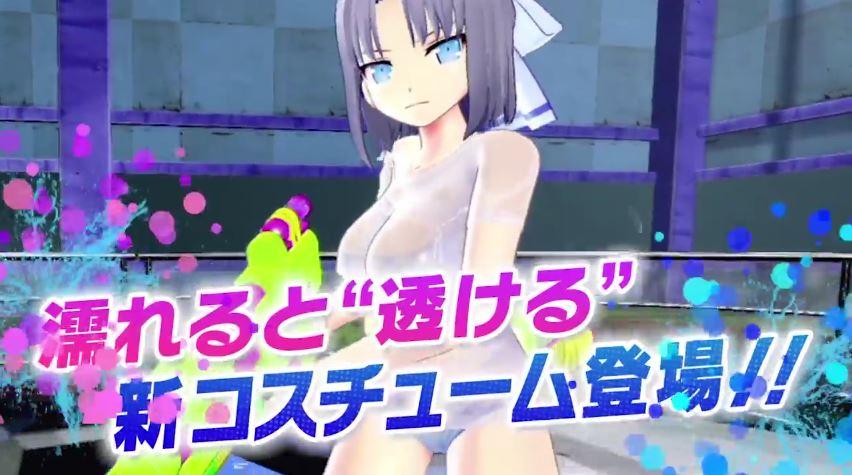 『閃乱カグラPBS』紹介動画 濡れると透けるコスチューム